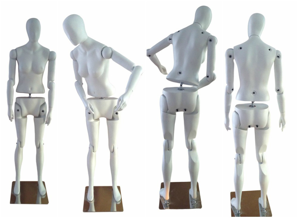 ZM-608 - Madelyn - Abstract White Poseable Female Mannequin