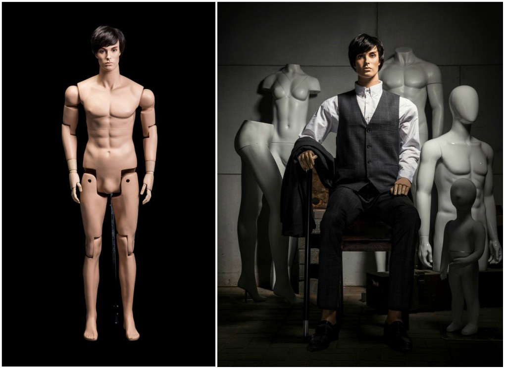 ZM-612 - Ronald - Elegant Realistic Fully Poseable Male Mannequin