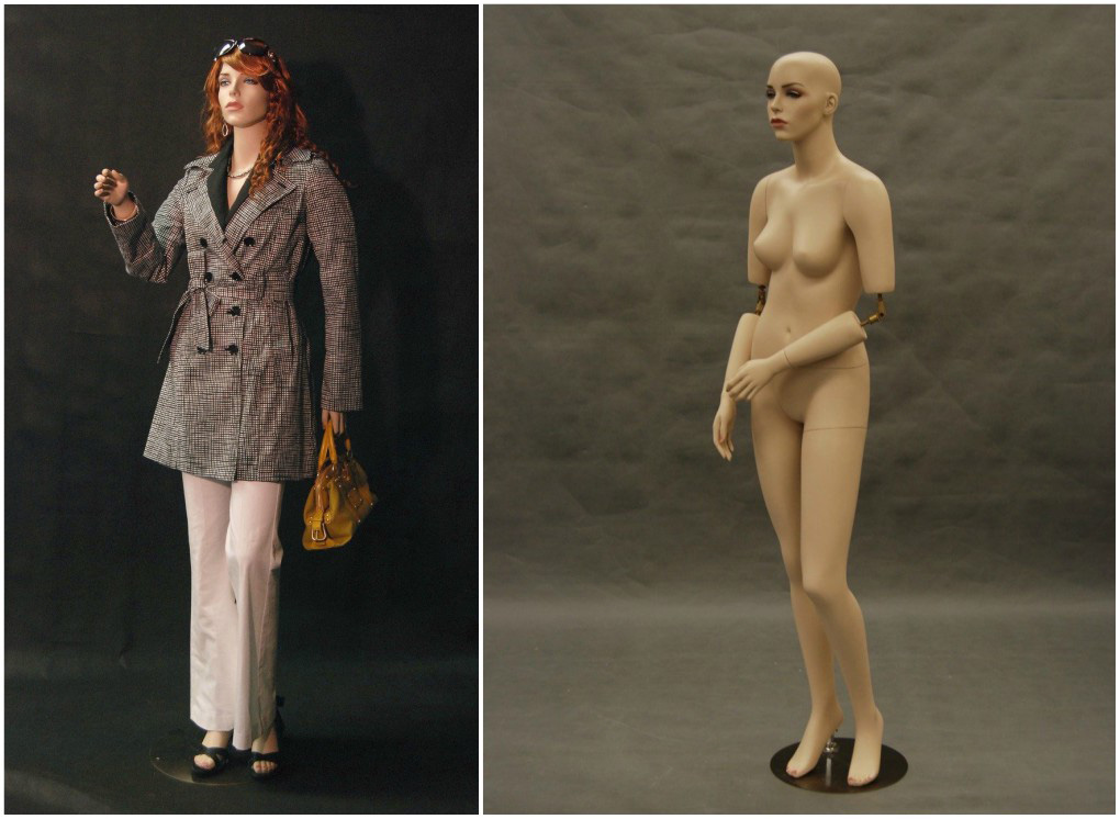 ZM-614 - Paisley - Realistic Tan Flexible Hands Female Mannequin