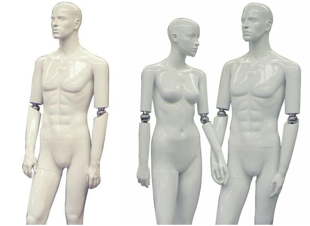 ZM-615 - Ella - Abstract White Flexible Hands Female Mannequin