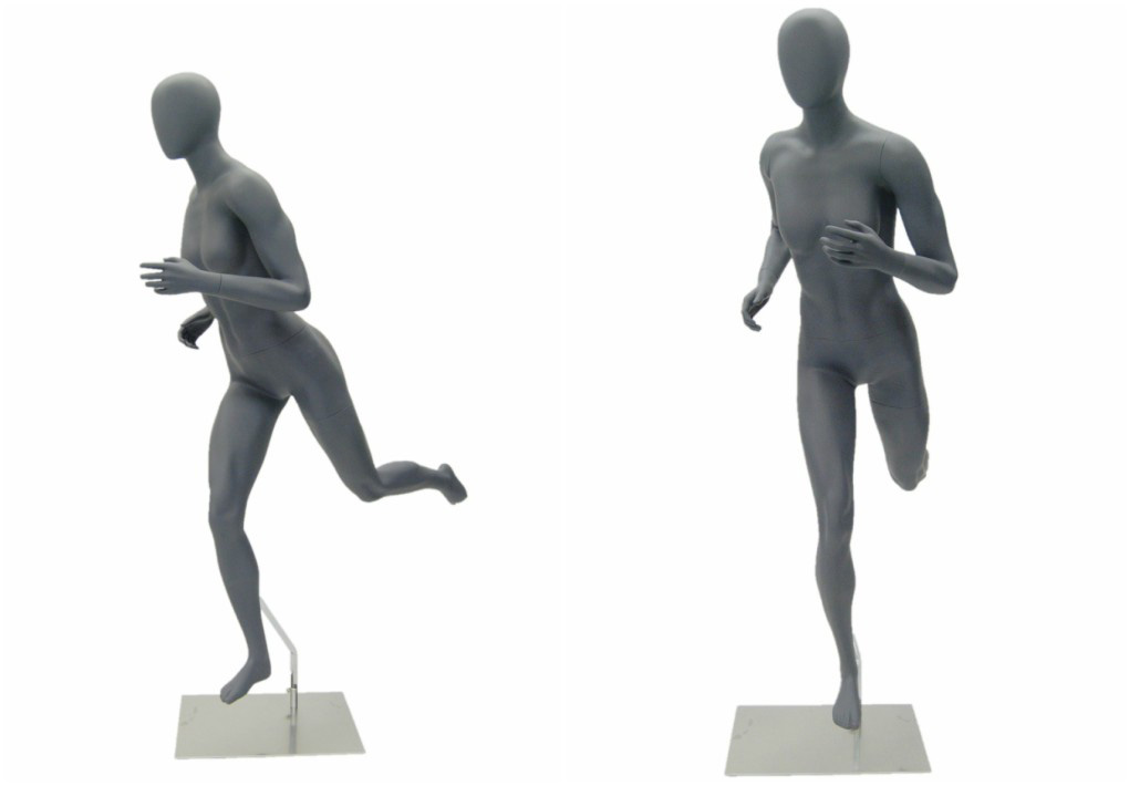 ZM-708 - Kennedy - Abstract Gray Athletic Jogging Mannequin