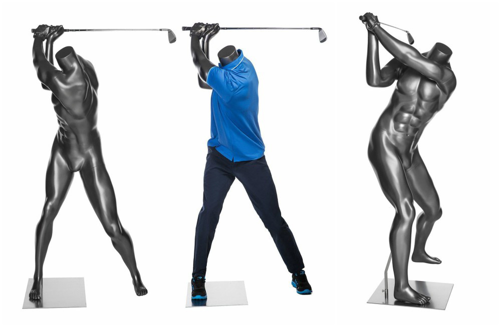 ZM-710 - Ryan - Muscular Athletic Male Golfing Mannequin