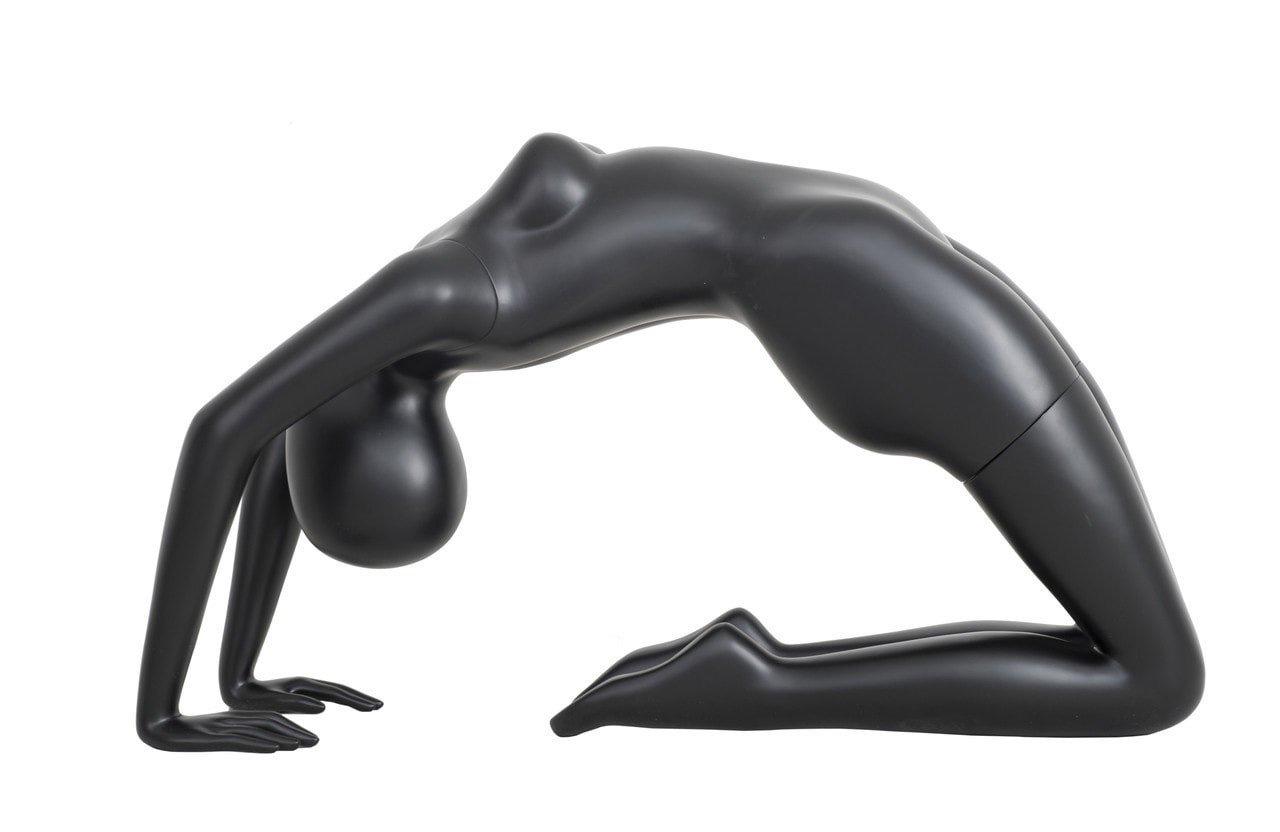 ZM-714 - Piper - Black Abstract Yoga Female Mannequin