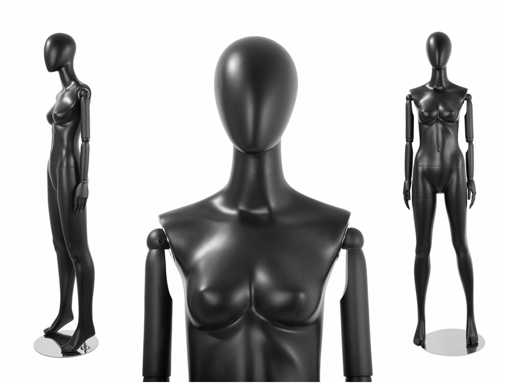 ZM-1001 - Laura - Abstract Black Poseable Female Mannequin
