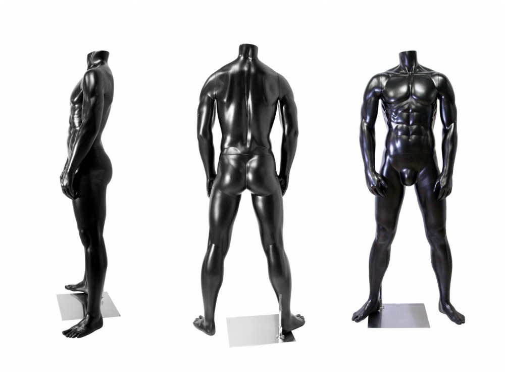 ZM-1003 - Don - Muscular Black Abstract Male Mannequin
