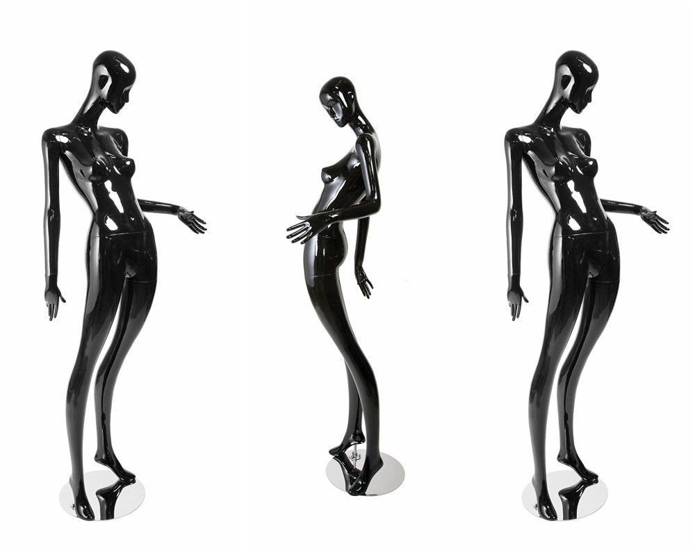ZM-1005 - Alexia - Creative Curvy Black Abstract Mannequin