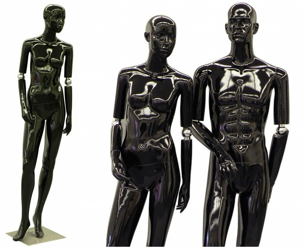 ZM-1008 - Diana - Glossy Black Flexible Hands Mannequin