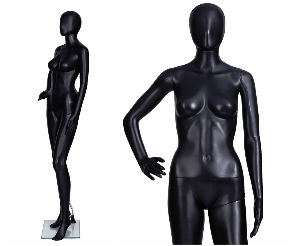ZM-1009 - Lexi - Abstract Black Simple Female Mannequin