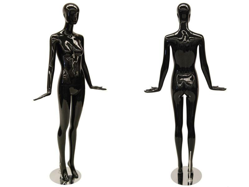 ZM-1010 - Malia - Glossy Black Abstract Female Mannequin