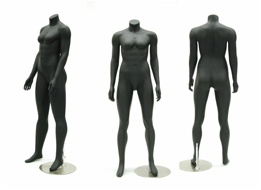 ZM-1011 - Vera - Abstract Headless Black Mannequin