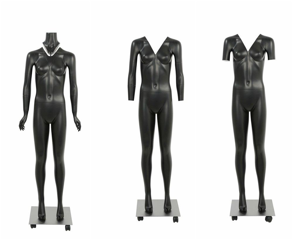 ZM-1012 - Chelsea - Black Detachable V-Neck Female Mannequin