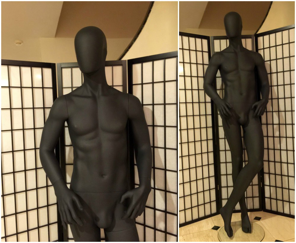 ZM-1013 - Ronald - Black Muscular Athletic Abstract Male Mannequin