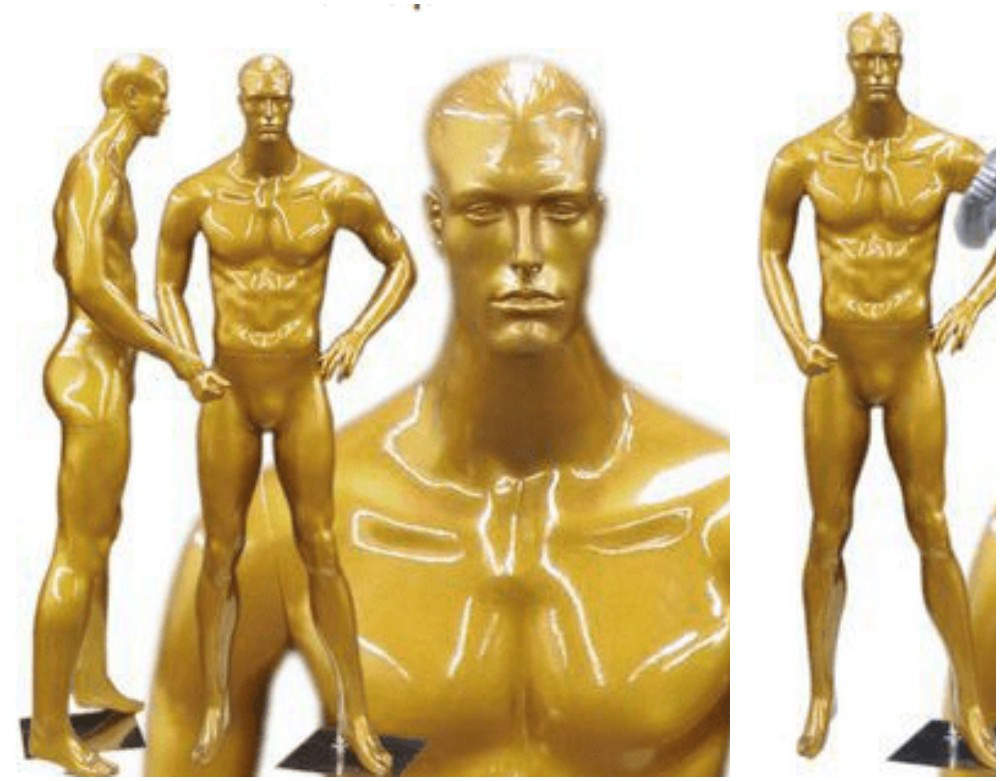 ZM-1303 - Jaden - Muscular Golden Male Mannequin