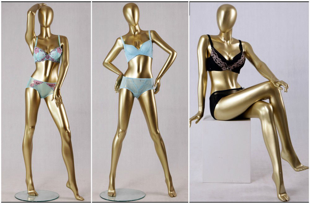 ZM-1305 - Anika - Super Slim Golden Posing Abstract Female Mannequin