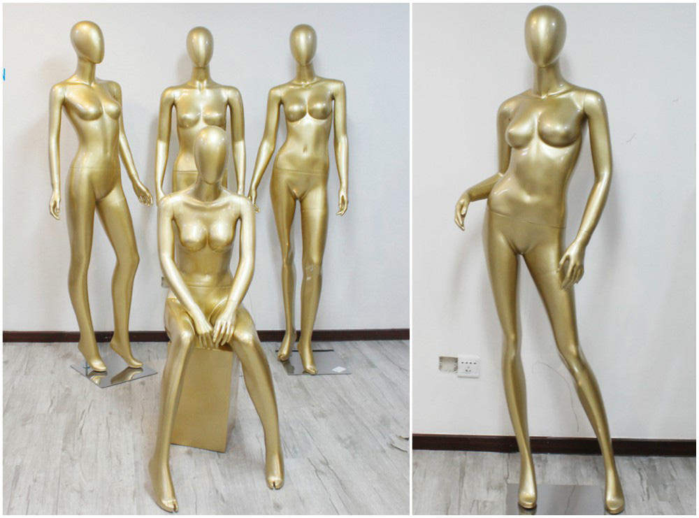 ZM-1307 - Azalea - Abstract Supple Golden Female Mannequin