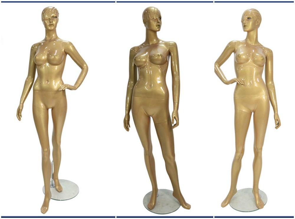 ZM-1308 - Greta - Simple Realistic Golden Female Mannequin