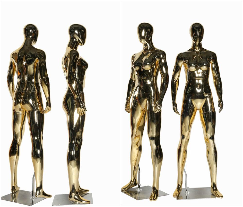 ZM-1309 - Myra - Shiny Golden Full Body Female Mannequin