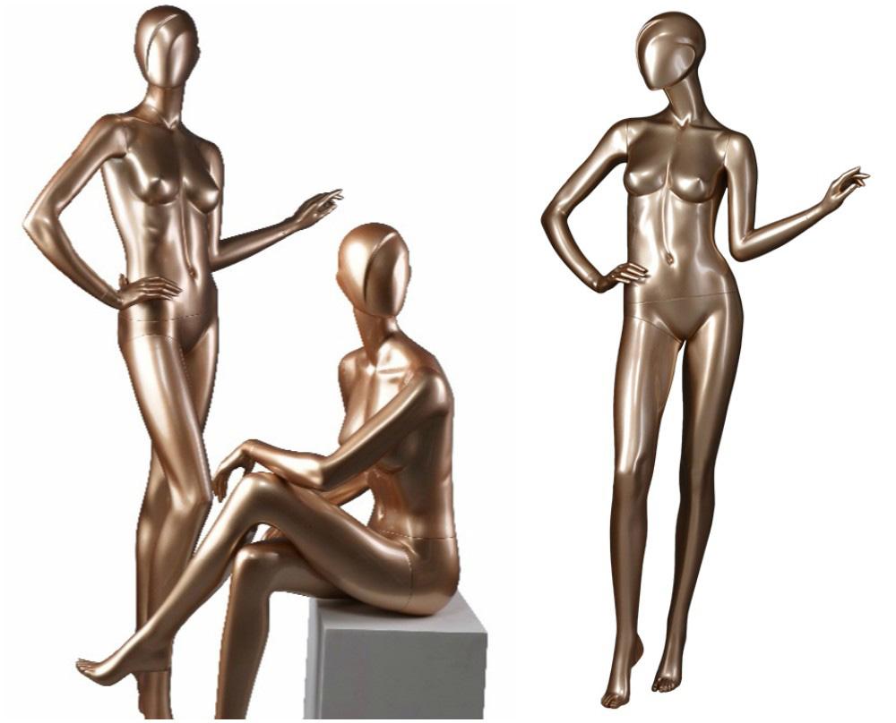 ZM-1311 - Melina - Posing Gold Female Full Body Mannequin