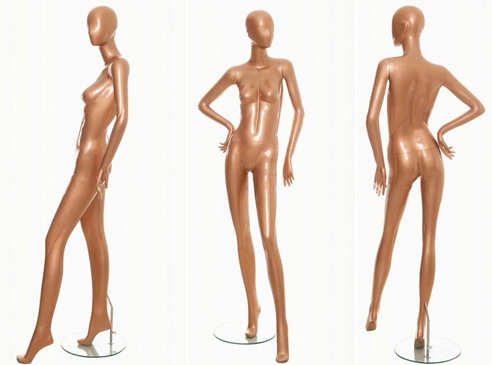 ZM-1313 - Demi - Elegant Posing Golden Female Mannequin