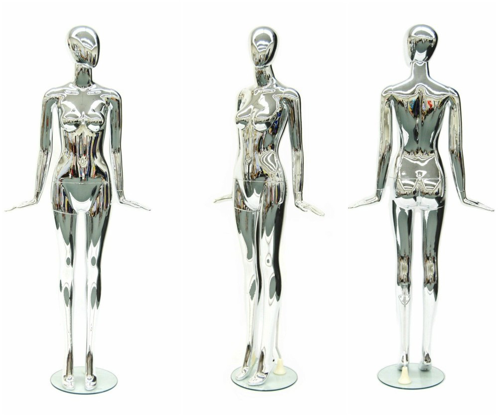 ZM-1404 - Penny - Cute Reflective Chrome Female Mannequin