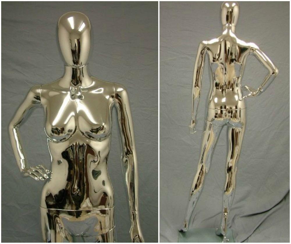 ZM-1406 - Jaylee - Elegant Supple Chrome Female Mannequin