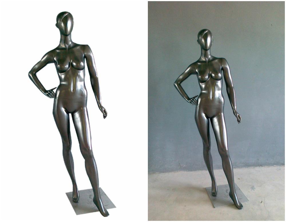 ZM-1410 - Teresa - Simple Chrome Female Mannequin
