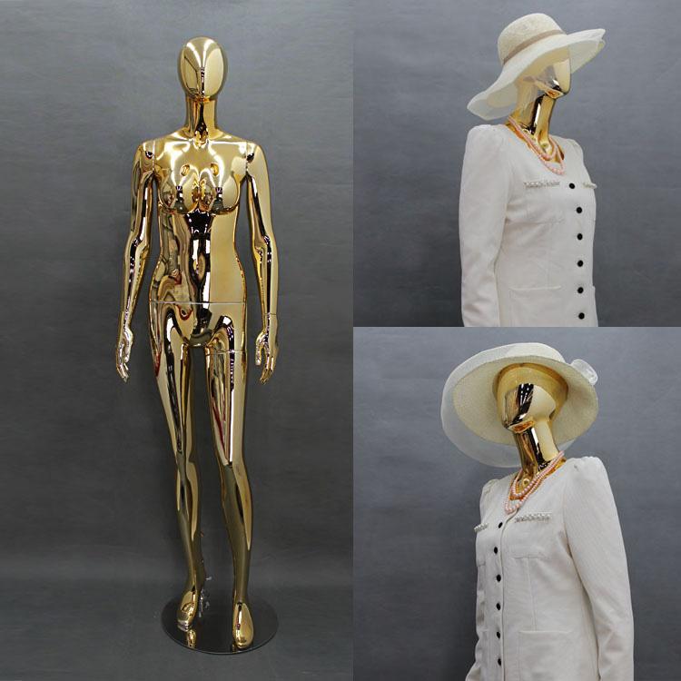 ZM-1411 - Avah - Elegant Chrome & Gold Female Mannequin