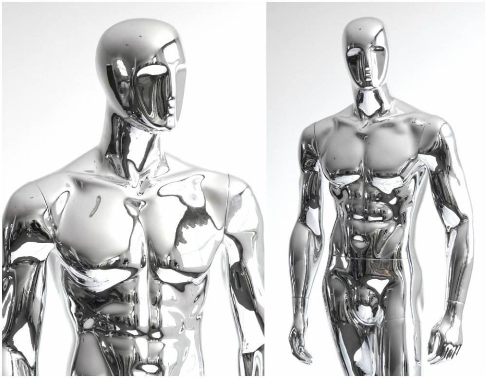 ZM-1412 - Xander - Muscular Male Chrome Mannequin