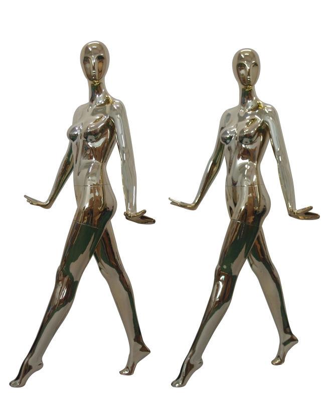ZM-1415 - Lorelai - Elegant Chrome Abstract Female Mannequin