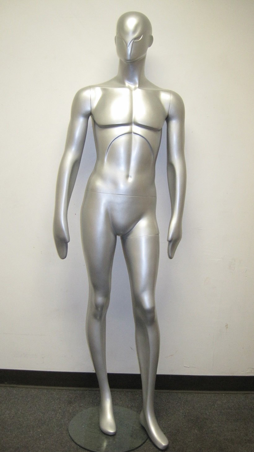 ZM-1504 - Peter - Simple Classic Silver Male Mannequin