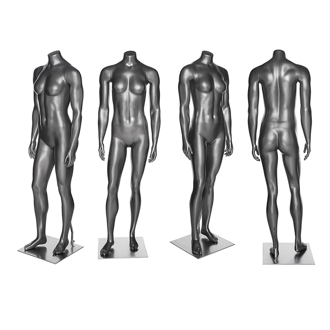 ZM-1505 - Lara - Silver Headless Supple Female Mannequin