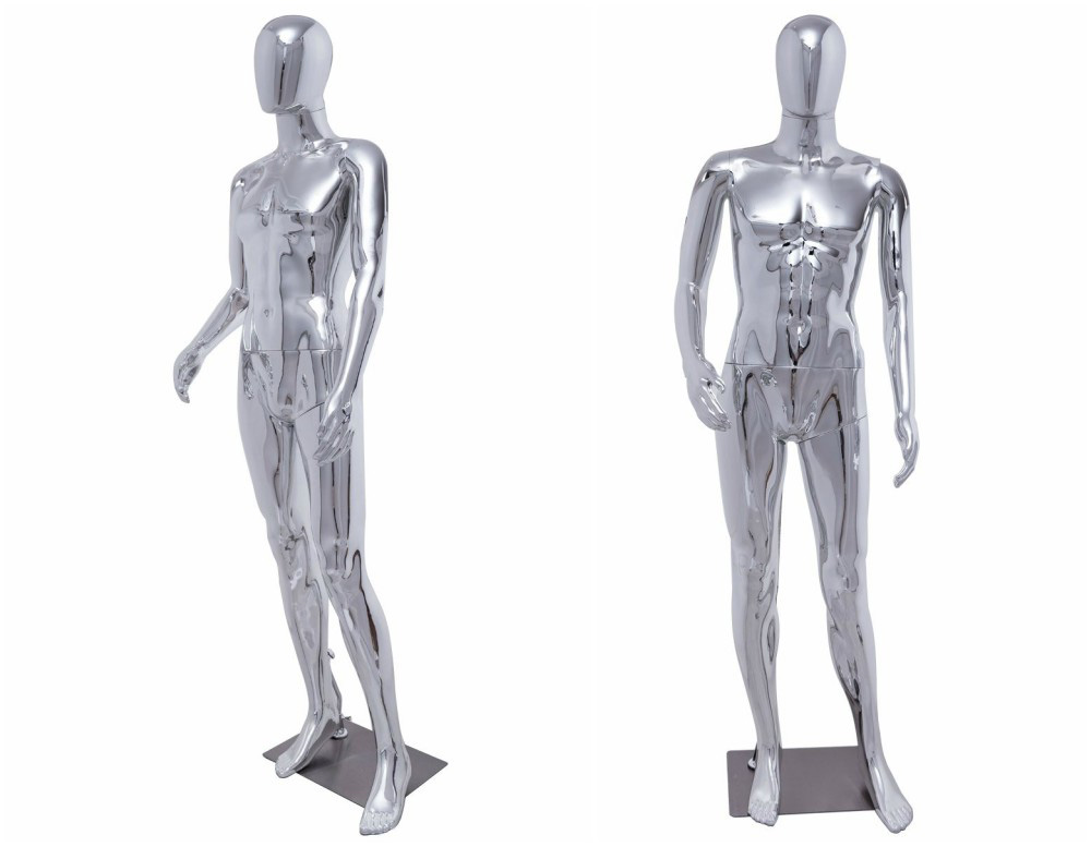 ZM-1506 - Elliot - Classic Silver Full Body Male Mannequin