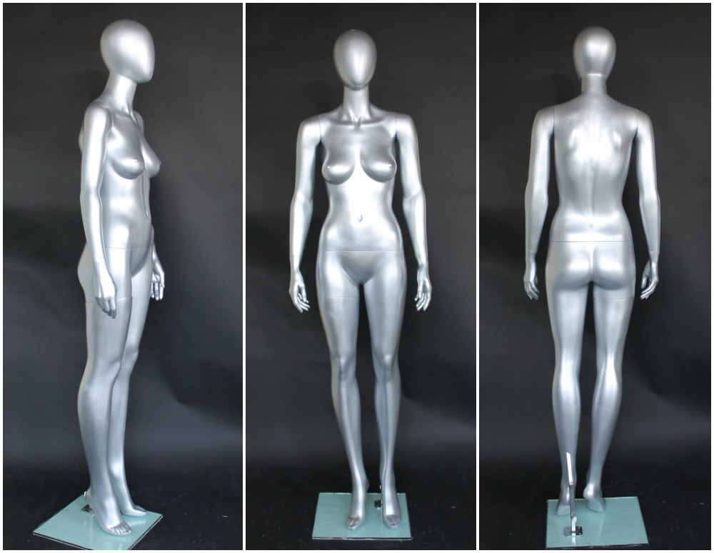 ZM-1508 - Brenda - Classic Full Body Silver Female Mannequin
