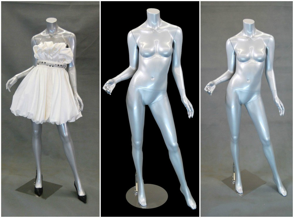 ZM-1510 - Amaris - Silver Headless Female Mannequin