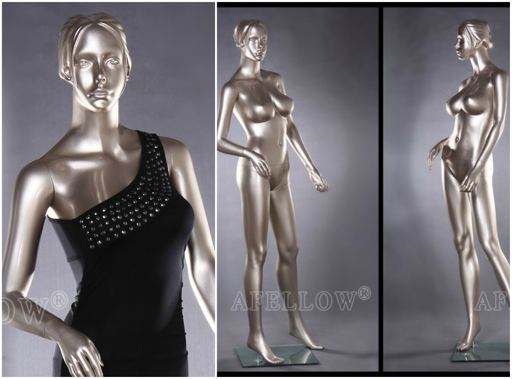 ZM-1512 - Shayla - Silver Full Body Realistic Female Mannequin