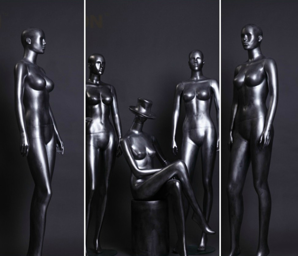 ZM-1513 - Desiree - Posing Creative Silver Female Mannequin