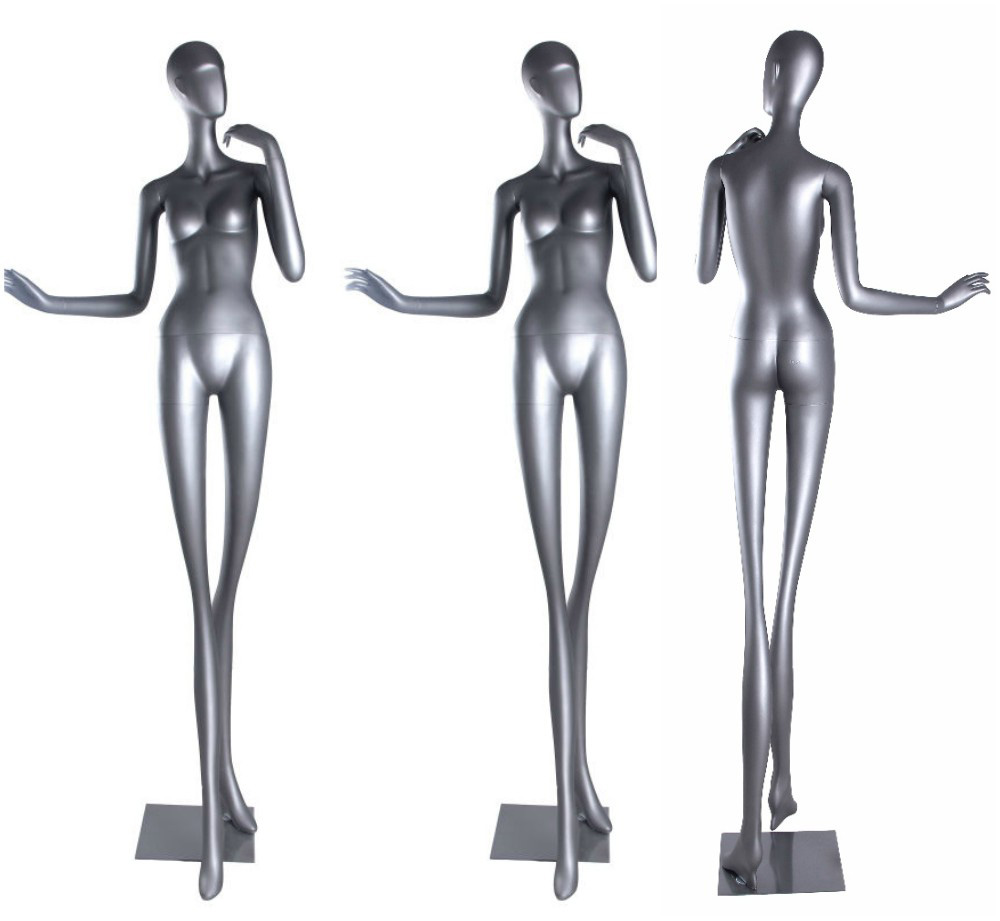 ZM-1514 - Casey - Creative Super Slim Tall Silver Female Mannequin