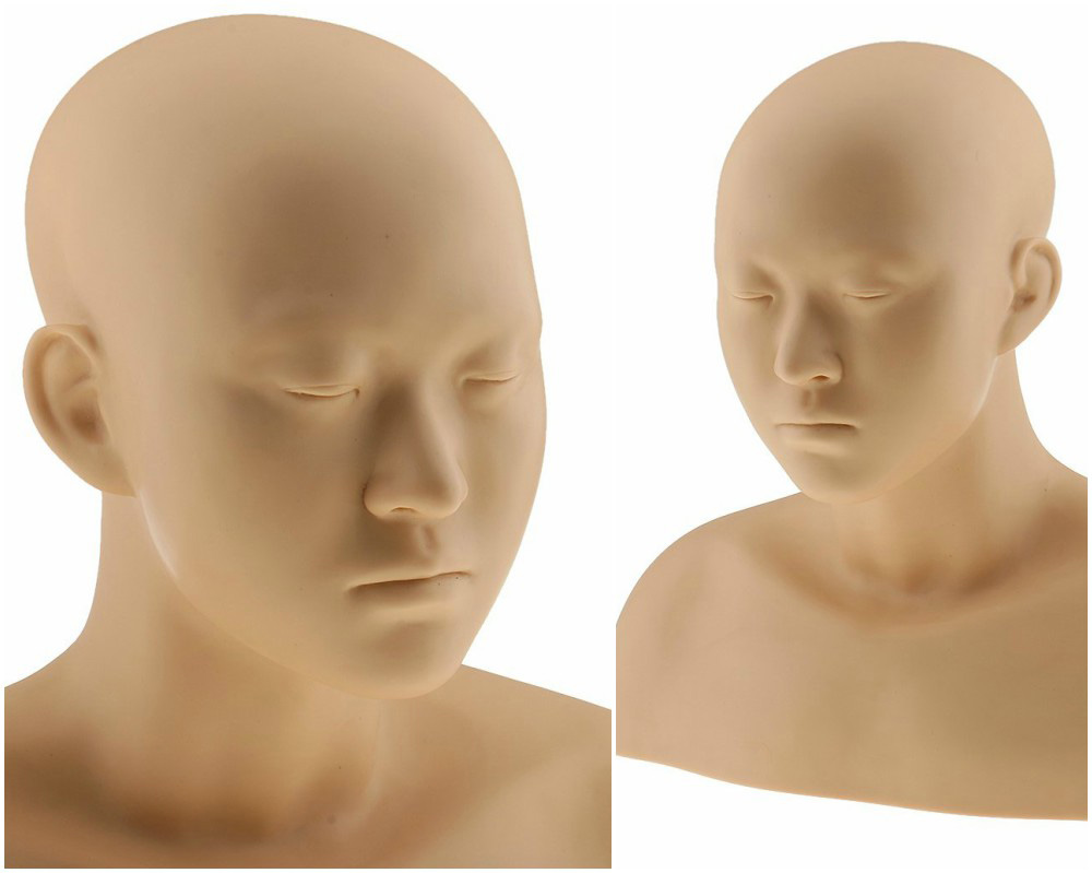 ZM-1701 - Andrew - Simple Silicone Mannequin Head