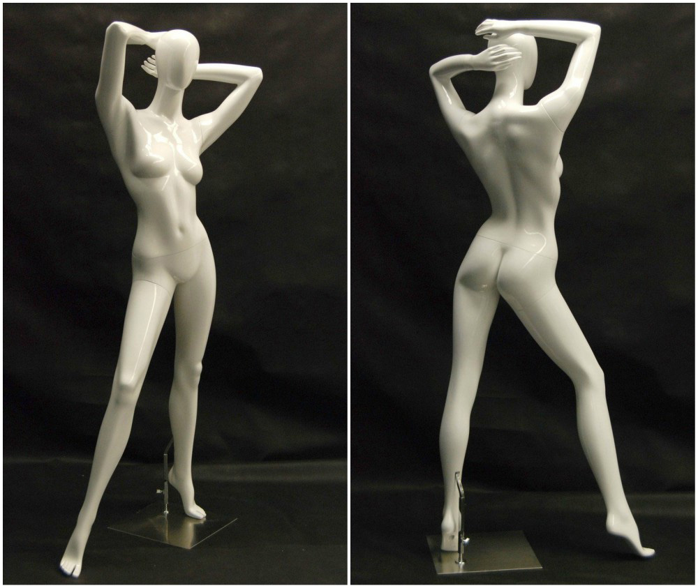 ZM-2107 - Hadlee - Posing Abstract White Adult Female Mannequin