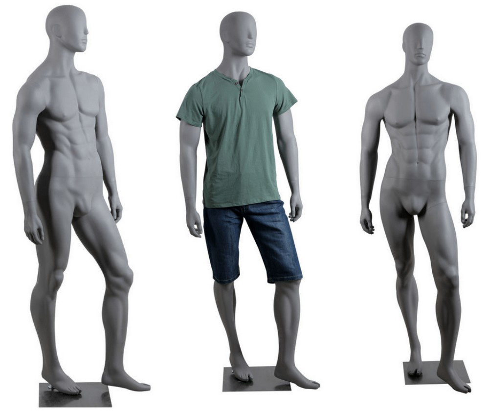 ZM-2110 - Jaden - Abstract Gray Male Adult Mannequin