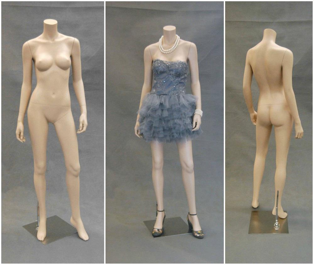 ZM-2112 - Tori - Slim Headless Flesh Tone Adult Female Mannequin