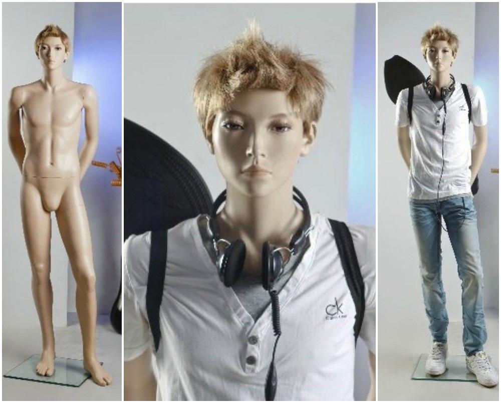 ZM-2202 - Cody - Realistic Flesh Tone Asian Teen Boy Mannequin