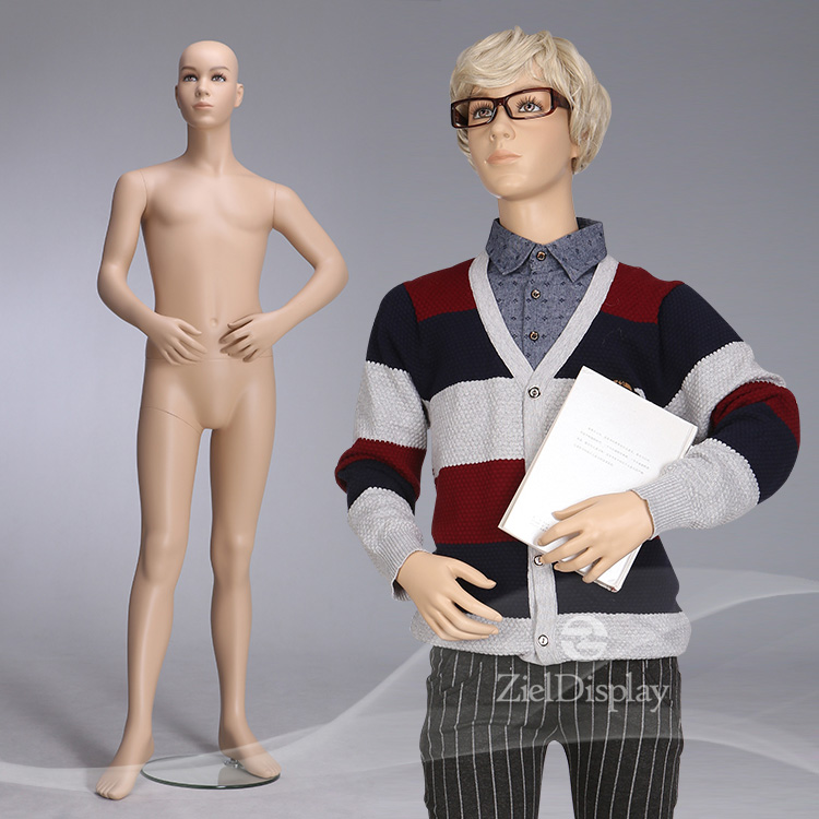 ZM-2215 - Michael - Realistic Flesh Tone Teen Mannequin