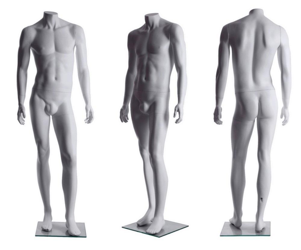 ZM-2511 - Luke - Abstract White Headless Male Fashion Mannequin