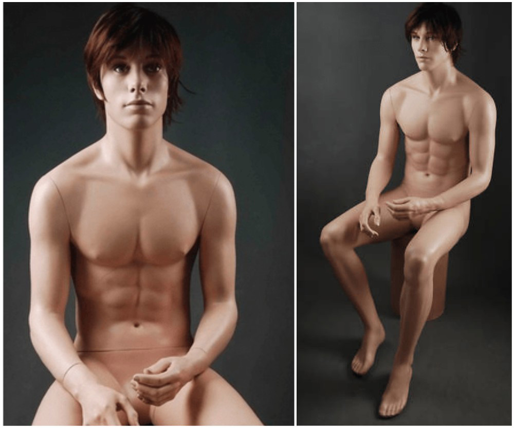 ZM-2512 - Isaac - Posing Sitting Male Fashion Mannequin