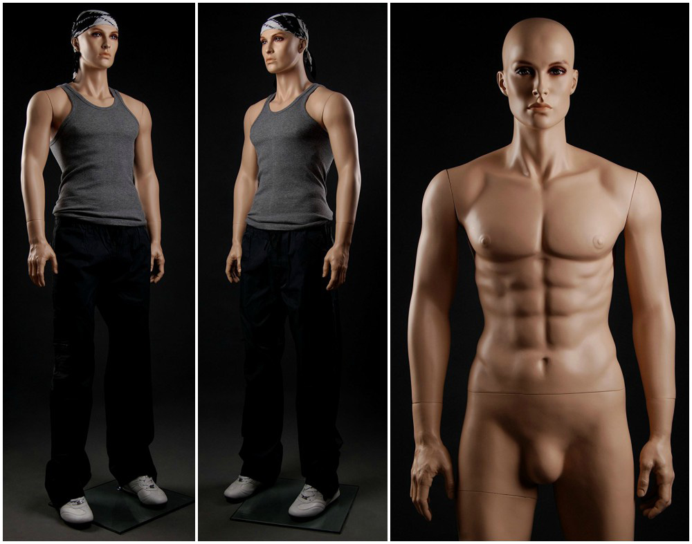 ZM-301 - Chris - Tall Muscular Realistic Male Mannequin