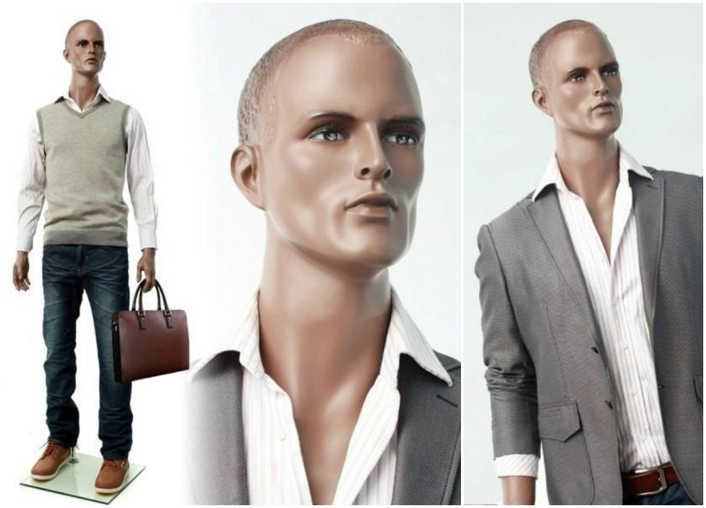 ZM-312 - Ryan - African American Realistic Male Mannequin