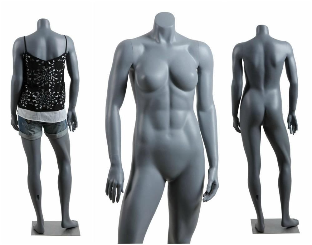ZM-501 - Eleanor - Gray Supple Headless Female Mannequin