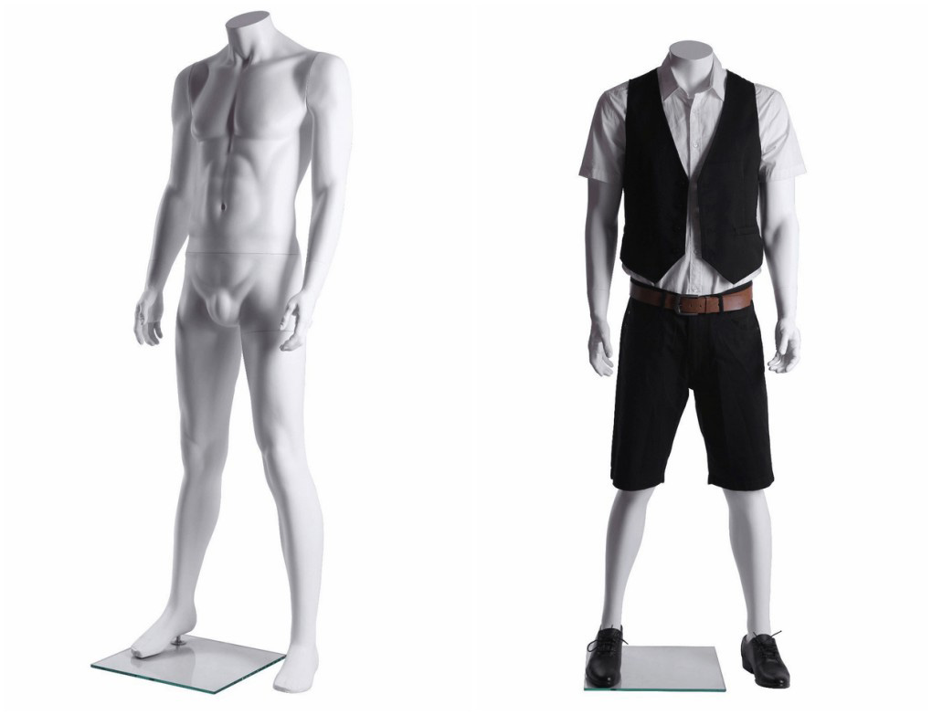 ZM-504 - Kyle - Male Abstract White Headless Mannequin