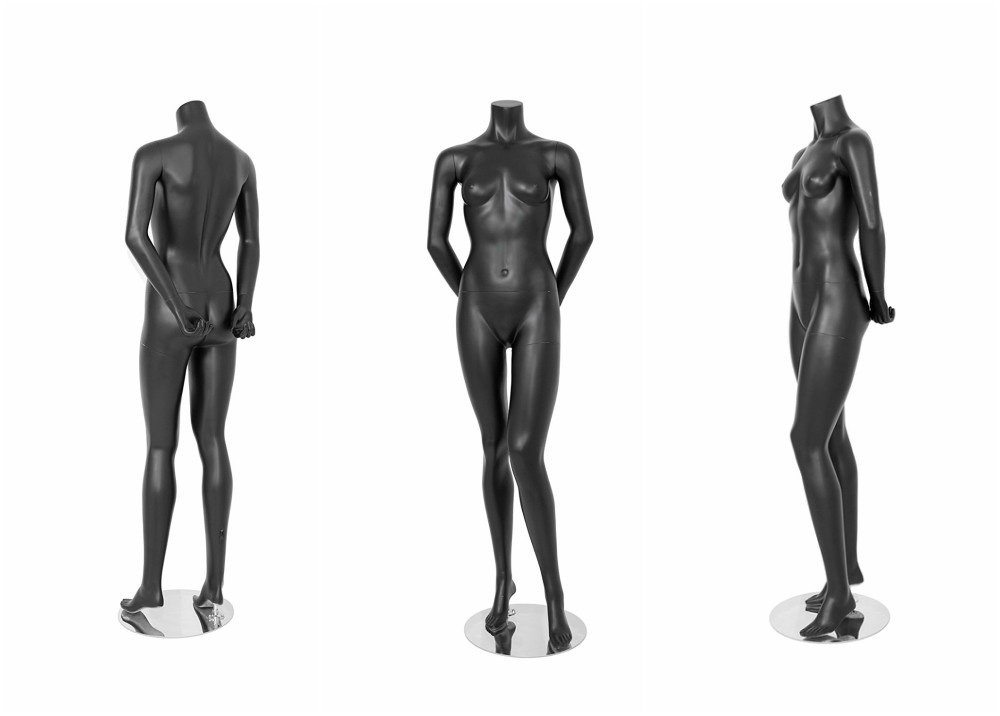 ZM-505 - Peyton - Female Gray Headless Elegant Mannequin